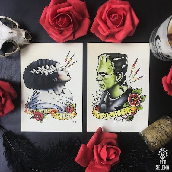 Frankenstein Tattoo Flash