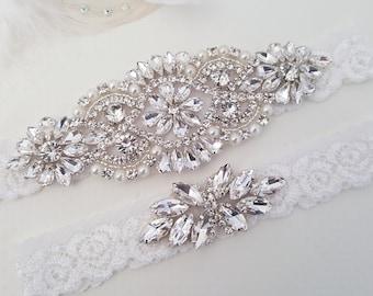 Wedding Garter, Bridal Garter, Wedding Garter Set, Lace Bridal Garter Set, Bridal Garter Belt
