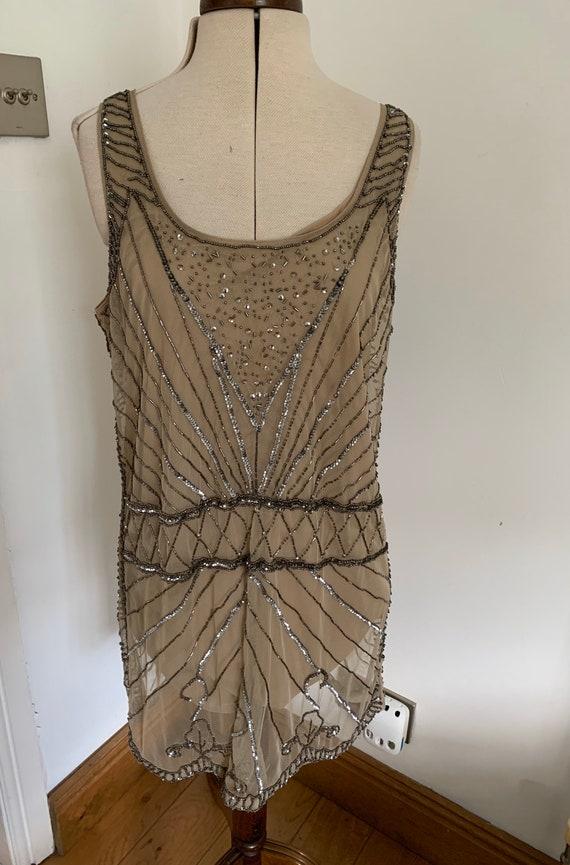 Flapper Dress, 1930s style, sequin dress, beaded d