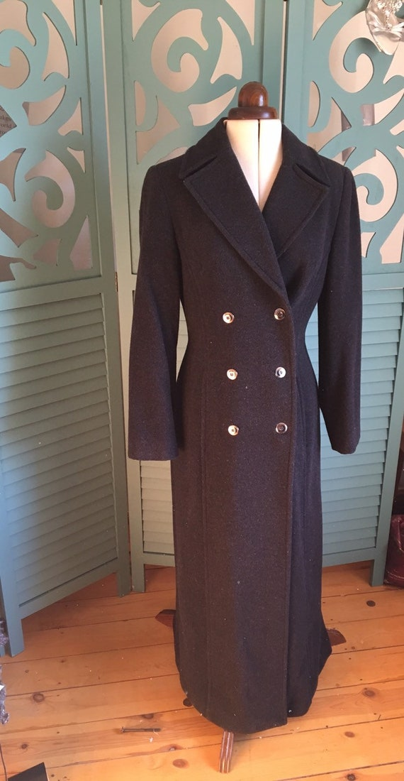 Vintage Wool Fit and Flare Coat, Victorian, Edward