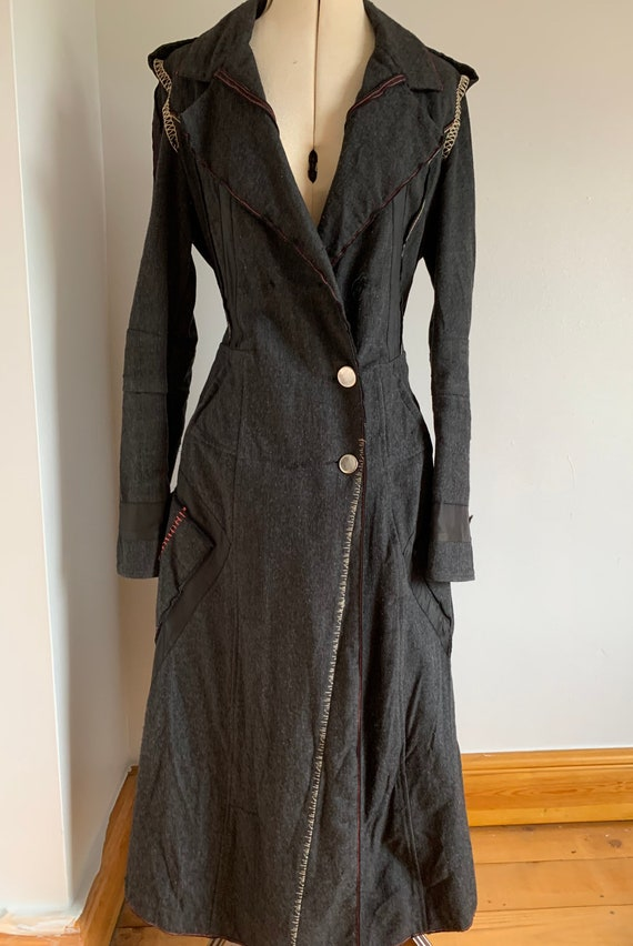 Vintage Military Coat, Deconstructed, Wool Coat, M