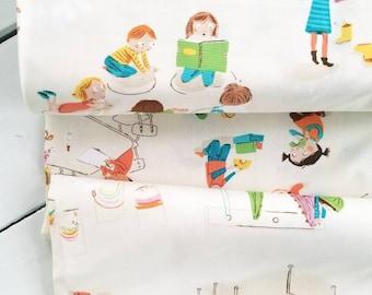 Kinder - Children(Cream Background) - Heather Ross - Windham Fabrics