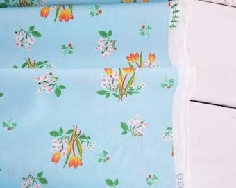 Kinder - Flowers(Aqua Background) - Heather Ross - Windham Fabrics
