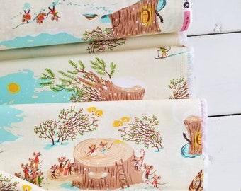 Sugarplum - Christmas Mice(Cream) - Heather Ross - Windham Fabrics - Holiday Fabric