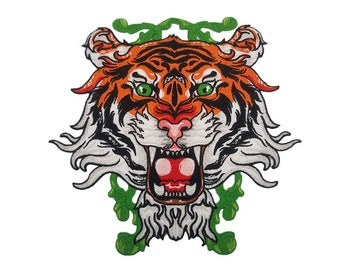 b828caeff Tiger head embroidered patch vintage fashion patch sew on patch applique