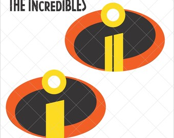 photograph about Incredibles Logo Printable identified as The incredibles brand Etsy