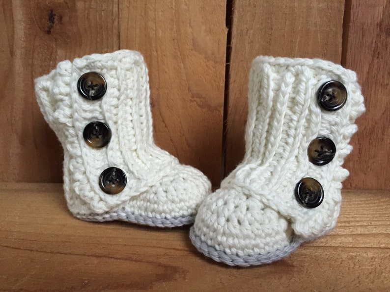 Crochet Wrap Baby Boots image 0