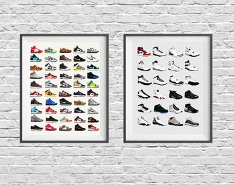 Nike Sneaker Poster Set - Nike Shoes - Nike Poster - Nike Dunks - Air Jordans - Nike Jordan - Vintage Shoes - Sneakers - Kicks -