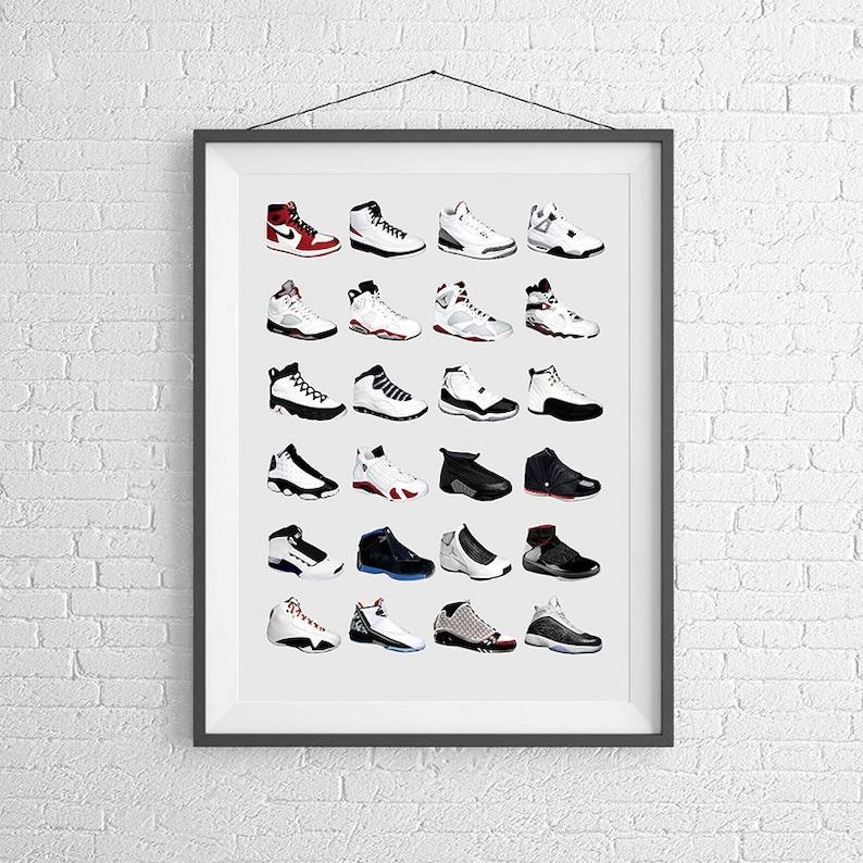 cheaper b8538 bc943 Nike Air Jordans Jordan Poster Nike Poster Michael   Etsy