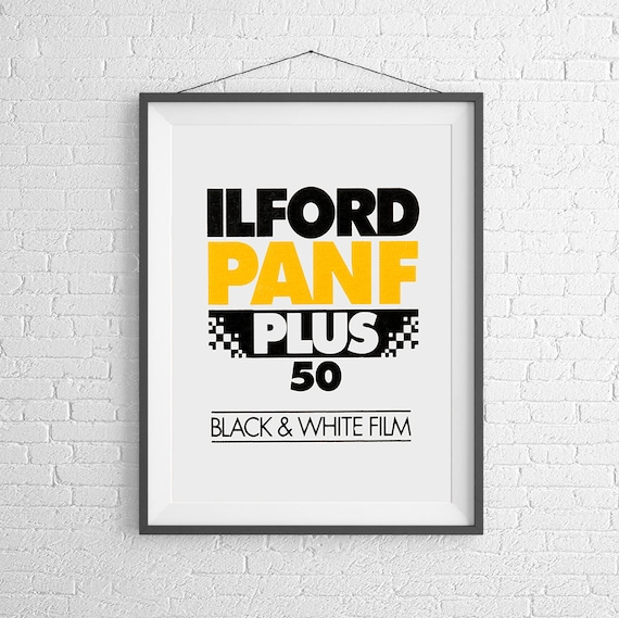 Alford Pan F 50 - Vintage Film Box - 35mm Film - Kodak Agfa - Art Print  Poster