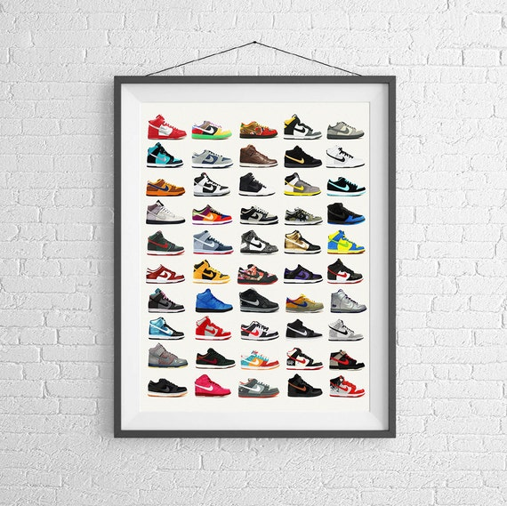 Nike Poster Nike Dunks Schuh Poster Mode Poster Etsy