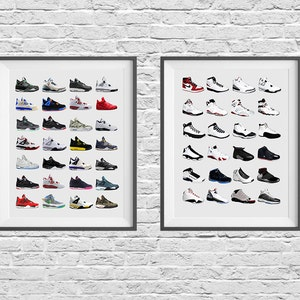 Nike Sneaker Poster Set Chaussures Nike Nike Poster Nike   Etsy