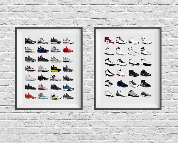 Nike Sneaker Poster Set Nike Shoes Nike Poster Air Etsy