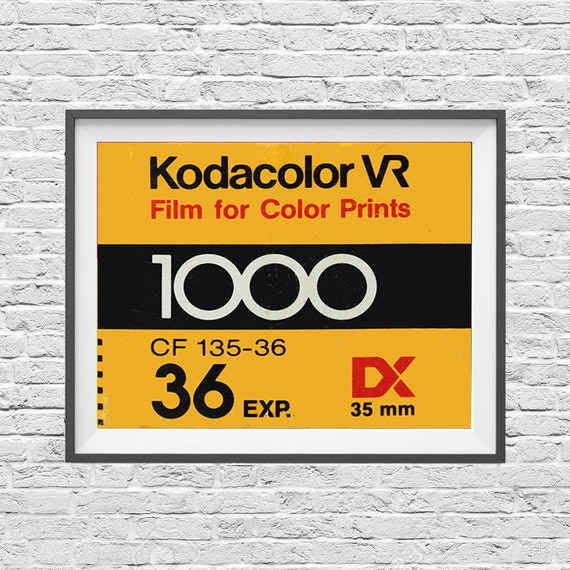 Kodak Kodacolor VR 1000 - Vintage Film Box - 35mm Film - Ilford Agfa - Art  Print Poster