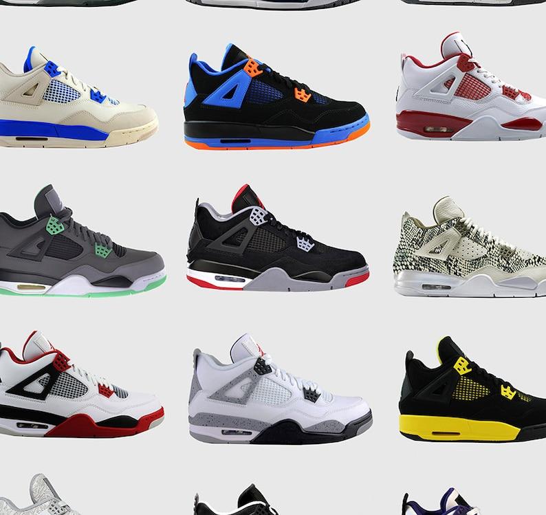 Scarpa Nike Air Jordan 4s Nike Poster Poster di Michael  8735ddcdba95