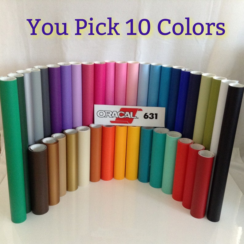 10 rolls 12x 60  Oracal 631 Matte Colors Adhesive image 0