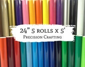 24 quot 5 Rolls, 5 39 ea, Hobby Vinyl (self adhesive) 26 Colors to choose from for Hobby Cutter craft vinyl sign cutter cricut silhouette vinyl