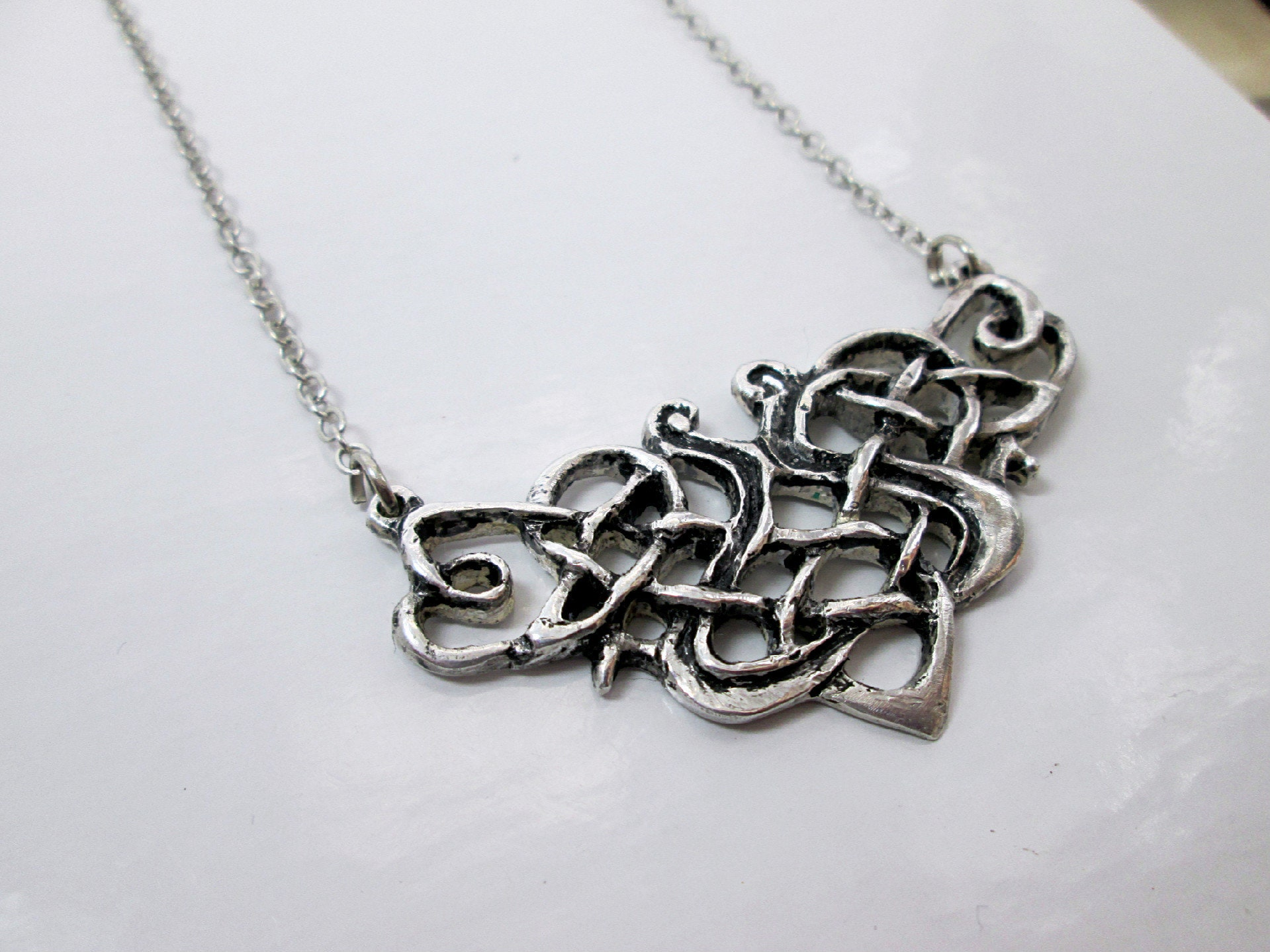 eb4464b0d Celtic Knot Necklace Norse Viking Medieval Jewelry Cosplay   Etsy