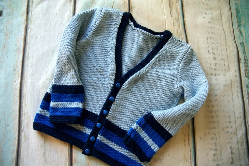 2d156028d Baby Boy Sweater Blue Hand Knit Sweater Boys Blue Baby Sweater