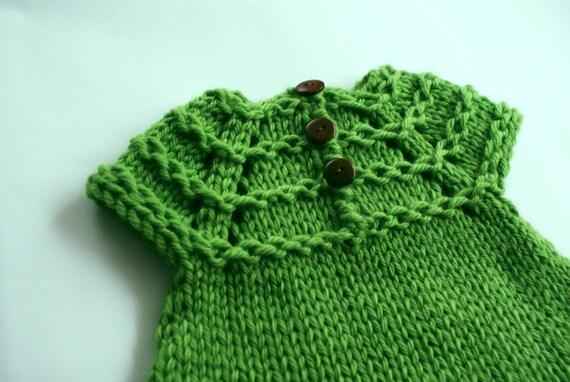 Baby Pullover stricken grüne Mädchen Pullover Pullover von | Etsy