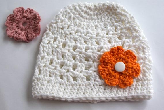 Baby Mütze Baby Mädchen Hut Weiße Baby Mütze Häkeln Hut Etsy