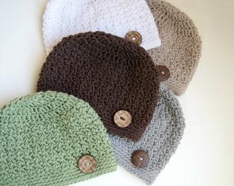 Baby Boy Hat, Baby Boy Beanie, Boy Hat, Baby Hat, Crochet Baby Hat, Photo Prop, Crochet Beanie Hat, Baby Hat