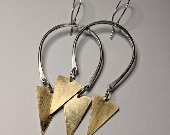 Unique Triangle Drop Earrings