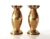Military Trench Art Pair Brass Vases Pair of French Trench Art, Artillery Shell, Antique French Military Gift, Bullet Vase,