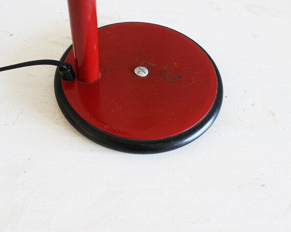 Rouge lampe vintage rouge lampe de bureau lampe de bureau retro