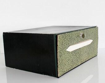 Desk File Organizer Vintage, Office Desk Accessories for Men, Cardboard Box, Vintage Box, Office Desk Organizer Box, Green Desk Storage D517