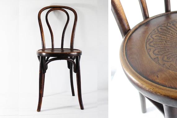 Bistro Chair Vintage Bentwood Chair Fischel Chair Bentwood | Etsy