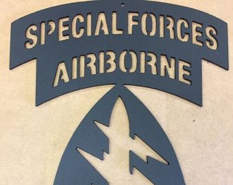 Special Forces Airborne Wall Plaque