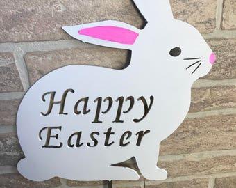 Easter Bunny Yard Stake - Garden Decor