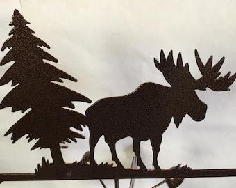 Metal Moose Wind Vane, Garden Decor, Garden Art,