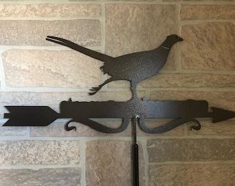 Metal  Pheasant Wind Vane, Garden Decor, Garden Art,