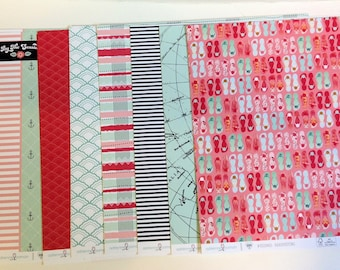 """Websters Pages """"Ocean Medley"""" 12"""" x 12"""" Individual Cardstock Papers"""