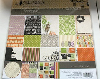 """Webster's Pages """"Once Upon a Halloween""""  12"""" x 12"""" Collection Kit"""