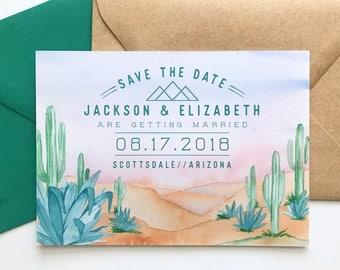 Desert Save the Date - Arizona Sunset Digital Download