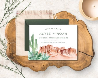 The Superstitions Save the Date Card