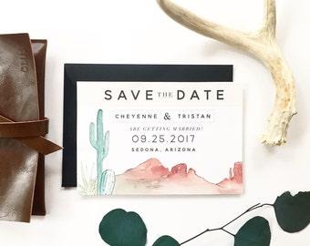 Desert Save the Date Digital Download - Arizona wedding, California wedding, Utah wedding