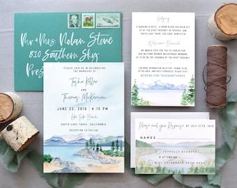 The Lake Tahoe Wedding Invitation Suite