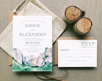 The Yosemite Wedding Invitation Suite Digital Download