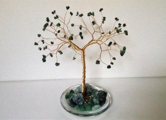 Emerald Wedding Anniversary Gifts: 55th Wedding Anniversary Gift.Emerald Gemstone Tree