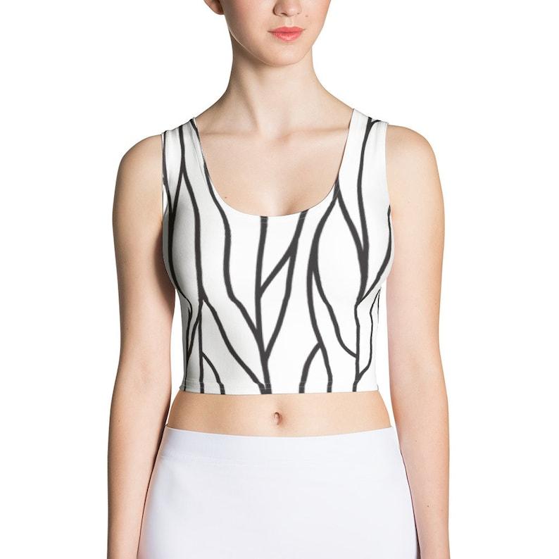 designed by Ben More Twig pattern Crop Top
