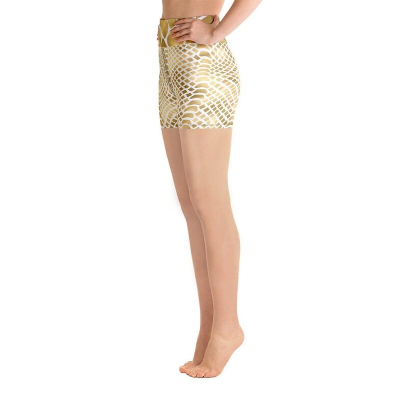 design by Ben More Soft Snakeskin print Yoga Shorts