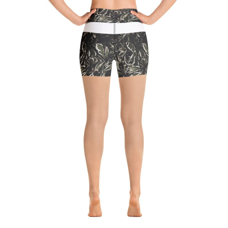 Dark Leaves Yoga Shorts EXCLUSIVELY designed by Ben More