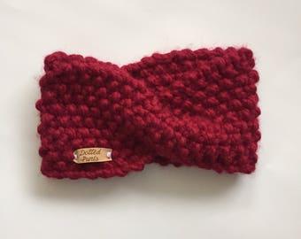 MADE TO ORDER - Textured Twist Knit Headband, Knit Earwarmer, Winter Headband, Knit Accessory