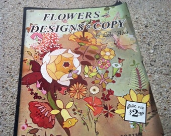 Vintage Flowers and Designs to Copy by Lola Ades - Published by Walter T. Foster- 1988