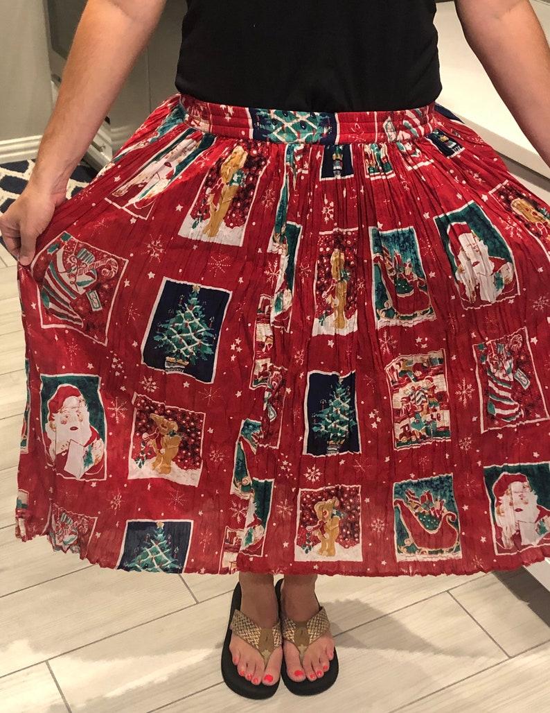 Bedford Fair Christmas mid-length skirt