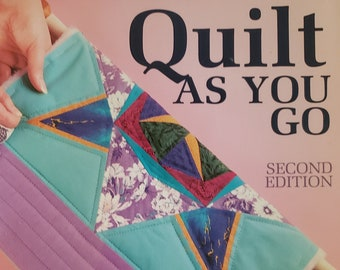 Vintage Quilt As You Go By Sandra Millett Featuring Instructions, Patterns, Templates, Layouts, Block Assembly, Applique, Assembly, Joining
